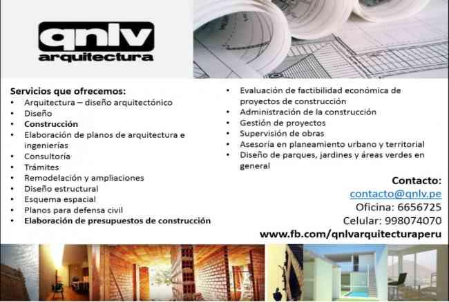 Qnlv arquitecura dise o arquitectura construcci n lima for Arquitectura diseno y construccion